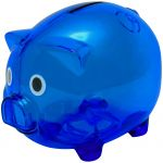 Piggy bank XL transparent blue 9850