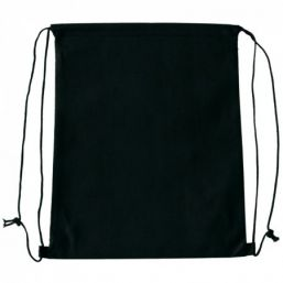 Backpack with drawstring black 9676
