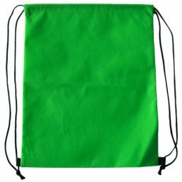 Backpack with drawstring green 9676