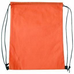 Backpack with drawstring orange 9676