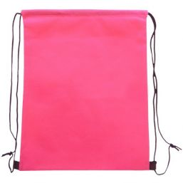 Backpack with drawstring magenta 9676