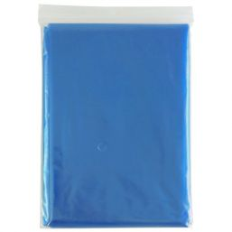 Disposable poncho transparent blue 9789
